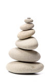 Pile of stones isolated on white background Royalty Free Stock Photography