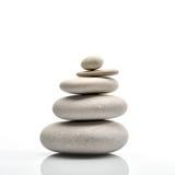 Pile of stones isolated on white. Background stock photography
