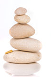 Pile of stones isolated on white background royalty free stock images