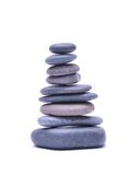 Pile of stones isolated on white background Royalty Free Stock Photo