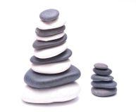 Pile of stones isolated on white background Royalty Free Stock Image