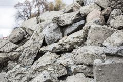 A pile of stones. Limestone, boulders stock photography