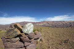 Pile of stones at the Quebrada de Humahuaca, Northern Argentina Royalty Free Stock Images