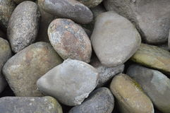 Pile of stones. From the river Stock Image