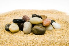 Pile of stones in rock garden Stock Images