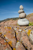 Pile of stones by the sea. Stock Image