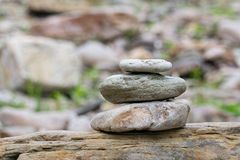 Pile stones. Royalty Free Stock Image
