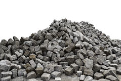 Pile of Stones - White Background Stock Photography