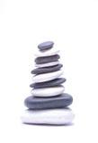 Pile of stones  on white background Stock Image