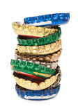 Pile of stoppers from beer Royalty Free Stock Photos