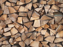 Pile of stored timber Royalty Free Stock Images