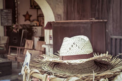 A pile of straw hat Royalty Free Stock Photos
