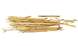 Pile straw isolated on white Royalty Free Stock Photos