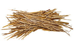 Pile straw isolated on white Stock Images