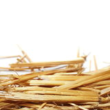 Pile straw isolated on white Stock Image