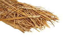 Pile straw isolated on white Stock Photos