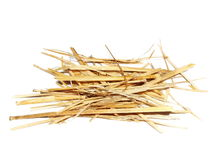 Pile straw isolated on white background Stock Images