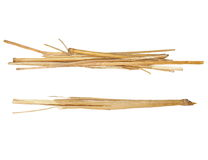 Pile straw isolated on white Royalty Free Stock Images
