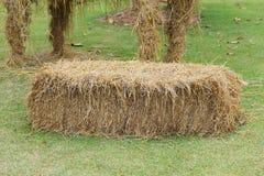 Pile of straw used animal food Stock Photos