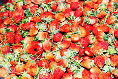 Pile of strawberries Royalty Free Stock Images