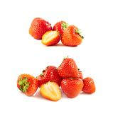 Pile of strawberries isolated Royalty Free Stock Photos
