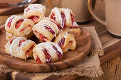 Pile of Strawberry Pastries Royalty Free Stock Photography