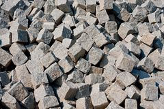 Pile of street pavers Stock Images
