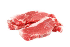 Pile of strip loin steaks Royalty Free Stock Images