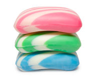 Pile of striped soap Stock Photos