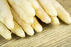 Pile of succulent fresh white asparagus Stock Images