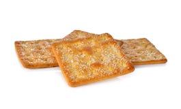 Pile of sugar crackers on white Stock Photos