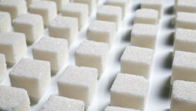 Pile of sugar cubes Royalty Free Stock Image