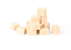 A pile of sugar cubes Stock Photos