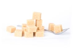 A pile of sugar cubes Stock Image