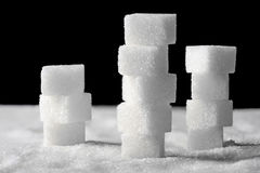 Pile of sugar cubes Royalty Free Stock Photography