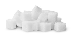 Pile Of Sugar Cubes Rotated Royalty Free Stock Photo