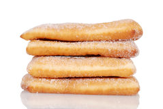 Pile of sugar donuts Royalty Free Stock Image