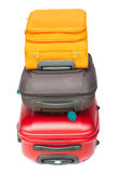 Pile of suitcases Royalty Free Stock Images