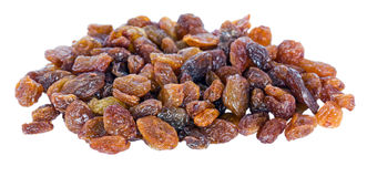 A pile of sultana raisins isolated Royalty Free Stock Images