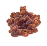 Pile of sultanas isolated on white. Background Stock Photography