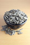 Pile of sunflower seeds in a bowl Royalty Free Stock Photography
