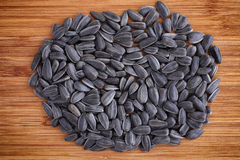 Pile of sunflower seeds Stock Images