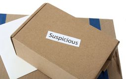 A Pile of Suspicious Envelopes and Packages stock photography