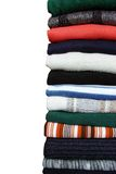 Pile of sweaters Royalty Free Stock Photography