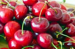 Pile of sweet cherries (Cerasus avium) Royalty Free Stock Photo
