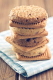 Pile of sweet cookies Royalty Free Stock Images