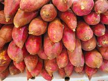 Pile of sweet potato. On the table Stock Photo
