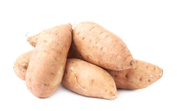 Pile of sweet potato plants isolated Royalty Free Stock Photography