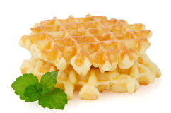 Pile of sweet waffles Stock Image