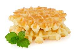Pile of sweet waffles Stock Image